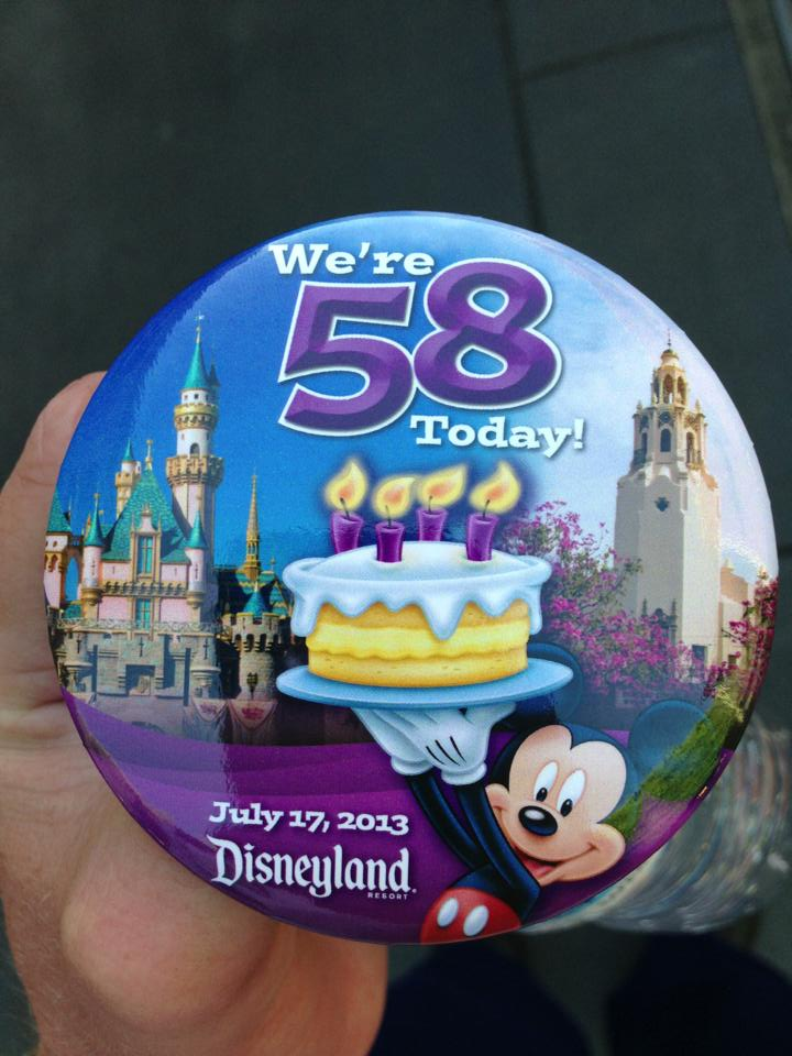 Disneyland 58th Birthday Cast Member Button