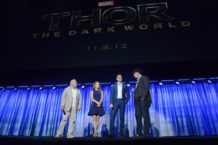 2013 D23 Expo Walt Disney Studios Live Action Films Presentation Marvel Kevin Feige Thor The Dark World Sir Anthony Hopkins Natalie Portman Tom Hiddleston