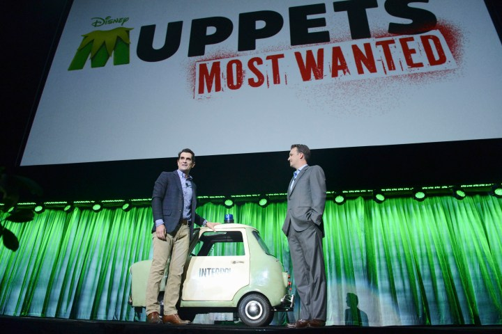 2013 D23 Expo Walt Disney Studios Live Action Films Presentation President Sean Bailey Muppets Most Wanted Ty Burrell
