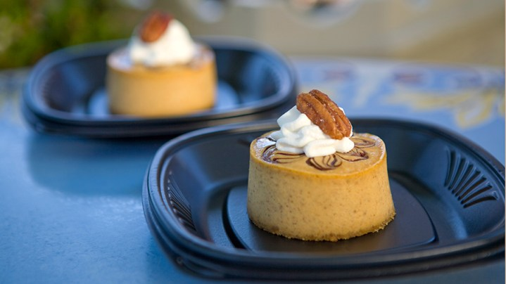 Disneyland Halloween Time Fall Food Pumpkin Cheesecake