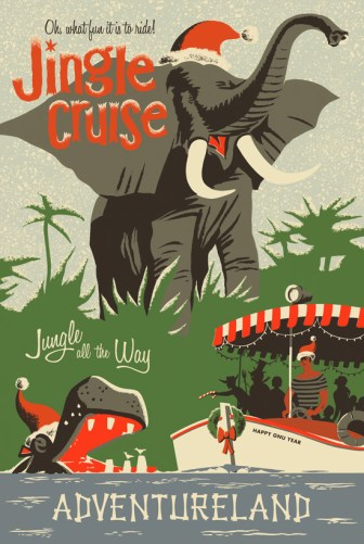 Disney Holidays Jingle Cruise Vintage Attraction Poster