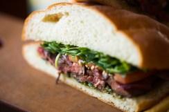 Hanger Steak Sandwich New Menu Fall 2013 La Brea Bakery Cafe Downtown Disney