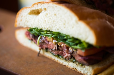 Hanger Steak Sandwich New Menu Fall 2013 La Brea Bakery Cafe Downtown Disney