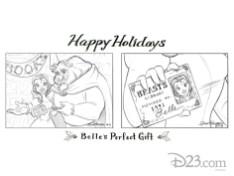 Disney D23 23 Days Of Christmas Art 2013 Steven Thompson