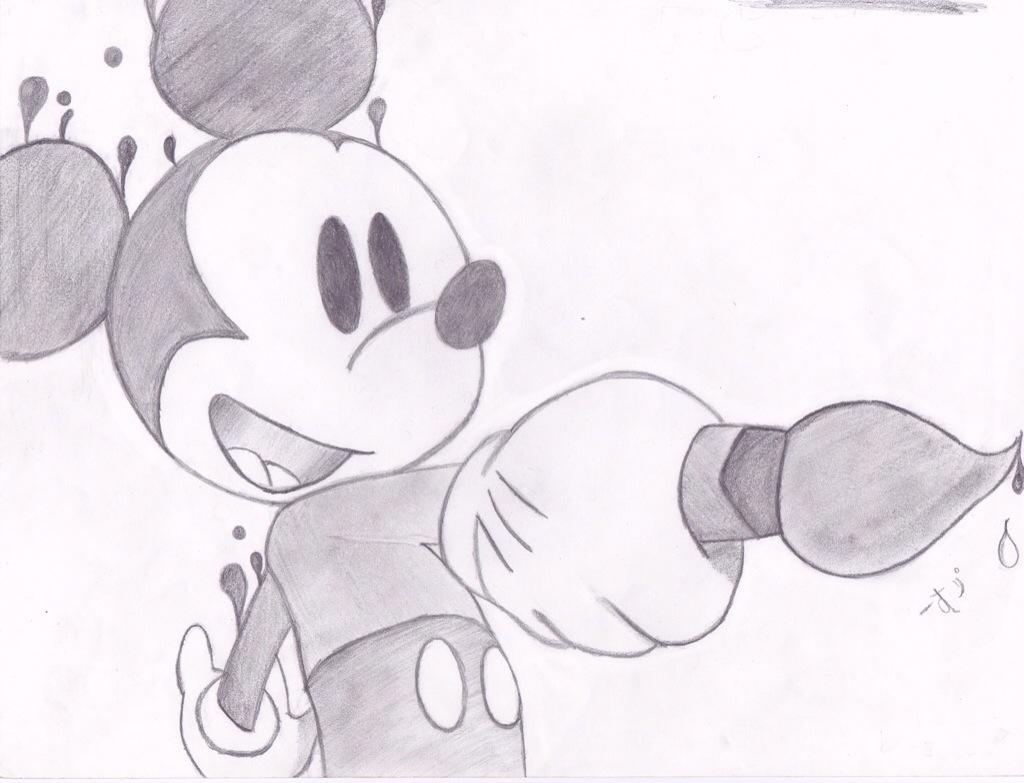 Line Drawing Mouse : Disney mickey mouse sketch pencil drawing disneyexaminer