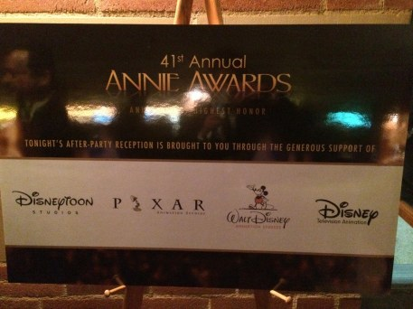 2014 Annie Awards Post Party Dinner Sponsors Disney Animation Studios