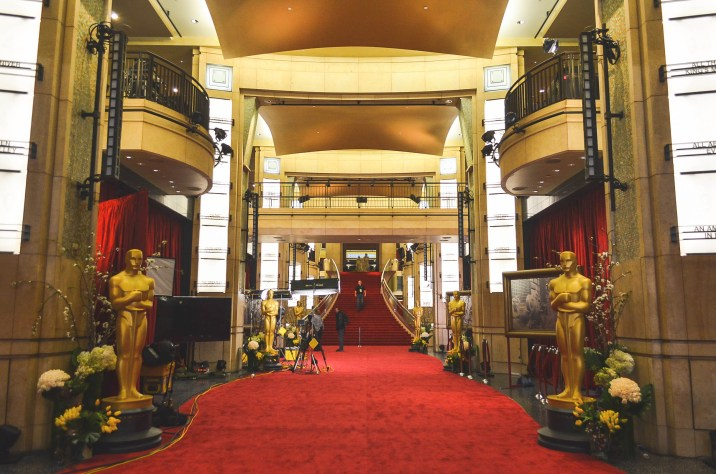 2014 Oscars Sunday Academy Awards Set Up Red Carpet Hollywood And Highland Center