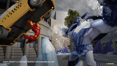 Disney Infinity Marvel Super Heroes Press Event Disneyexaminer Gameplay Screenshot Iron Man