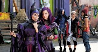 Disney Channel Original Movie Descendants Cast Photo Kristen Chenoweth Dove Cameron Booboo Stewart Sofia Carson Cameron Boyce