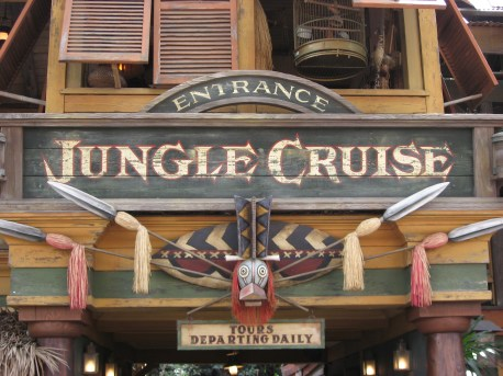 Disneyland Jungle Cruise Attraction Entrance Sign