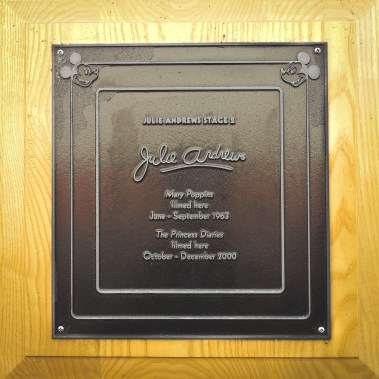 Julie Andrews Soundstage Mary Poppins Walt Disney Studios Lot