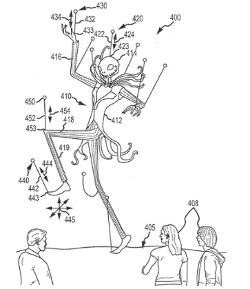 Disney Parks Drones Patents Concept Art Aerial Jack Skellington