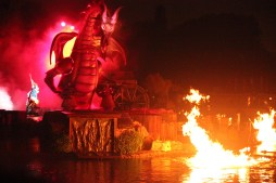 Disneyland Fantasmic Finale Dragon Mickey Mouse Scene
