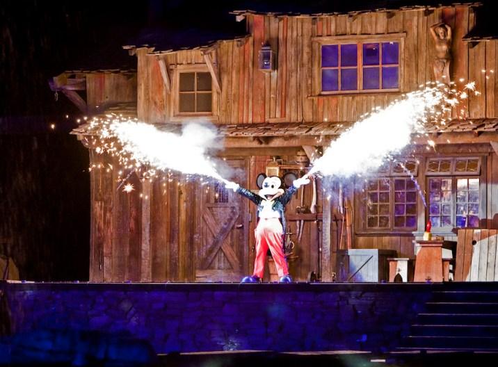 Disney Parks Fantasmic Mickey Mouse Introduction Sparklers