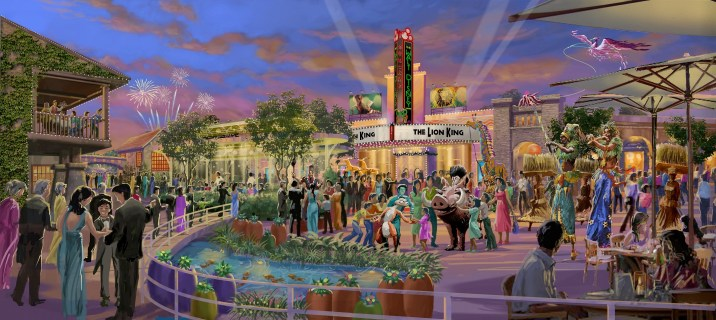 Shanghai Disney Resort Walt Disney Grand Theatre Disneytown Concept Art