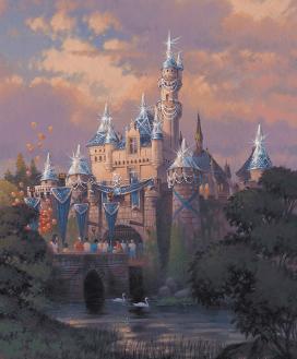 Disneyland 60 Diamond Celebration Sleeping Beauty Castle Concept Art