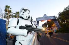 Rundisney Star Wars Half Marathon Weekend Disneyland Stormtrooper Finish Line