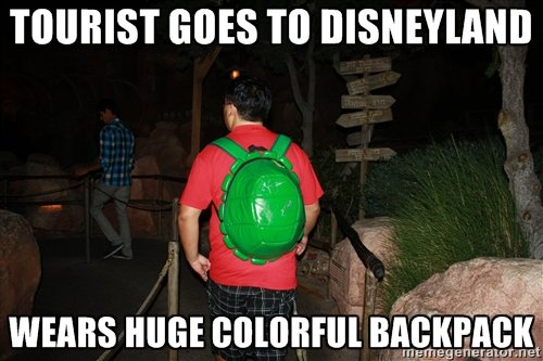 Things That Tourists Do At Disneyland Backpacks