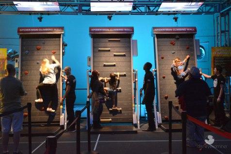Spiderman Climbing Wall Marvel Experience Disneyexaminer Tour