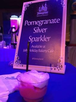 Disneyland Diamond Celebration Pomegranate Silver Sparkler Jolly Holiday Bakery Cafe