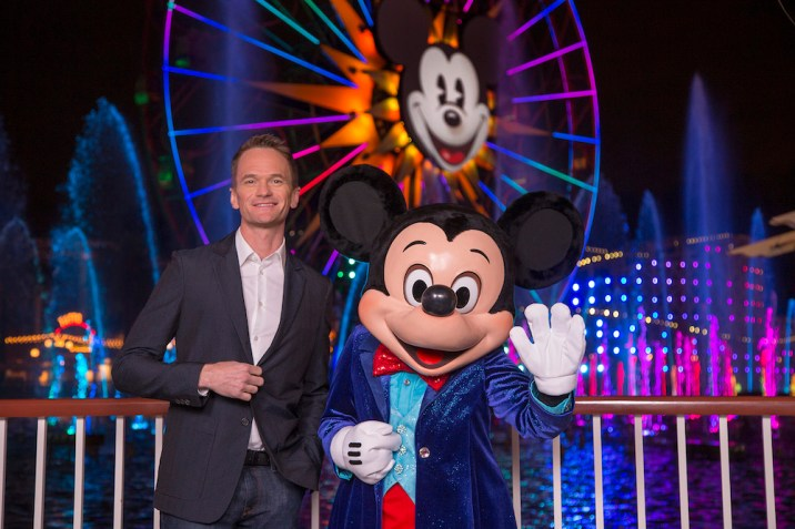 Disneyland Diamond Celebration World Of Color Celebrate The Wonderful World Of Walt Disney Neil Patrick Harris Mickey