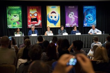 Disney Pixar Inside Out Press Conference Cast Disneyexaminer