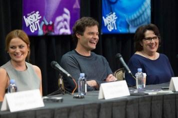 Disney Pixar Inside Out Press Conference Disneyexaminer Bill Hader Amy Poehler