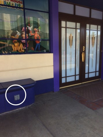 Outlet in front of Disney Junior