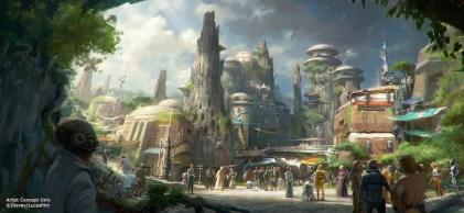 Star Wars Land Concept Art Disneyland Walt Disney World Parks And Resorts Presentation 2015 D23 Expo