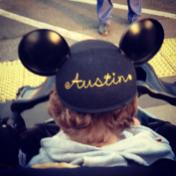Has to rep his mouse ears.