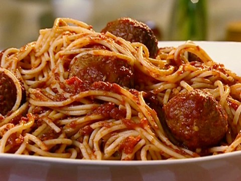 Spaghetti and meatballs © Food Network