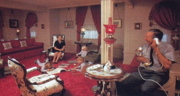 Walt with his family in their apartment via justdisney