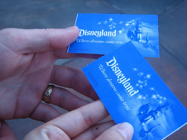 Disneyland Resort Park Hopper Tickets Blue
