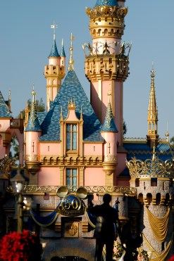 Detail of Sleeping Beauty Castle during the 50th Anniversary (Photo via DisneyMike)