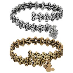 Mickey Mouse Filigree Wrap Bracelet by Alex and Ani - Photo courtesy of www.disneystore.com