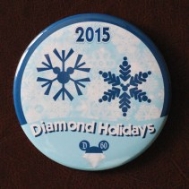 Disneyland 60 Diamond Holidays Button Disneyexaminer Store