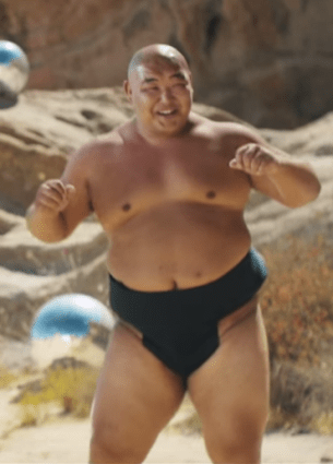 "Sumo wrestler from One Direction's ""Steal My Girl"" music video."