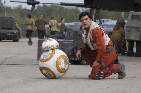 Star Wars The Force Awakens Review Disneyexaminer Poe Dameron Bb8