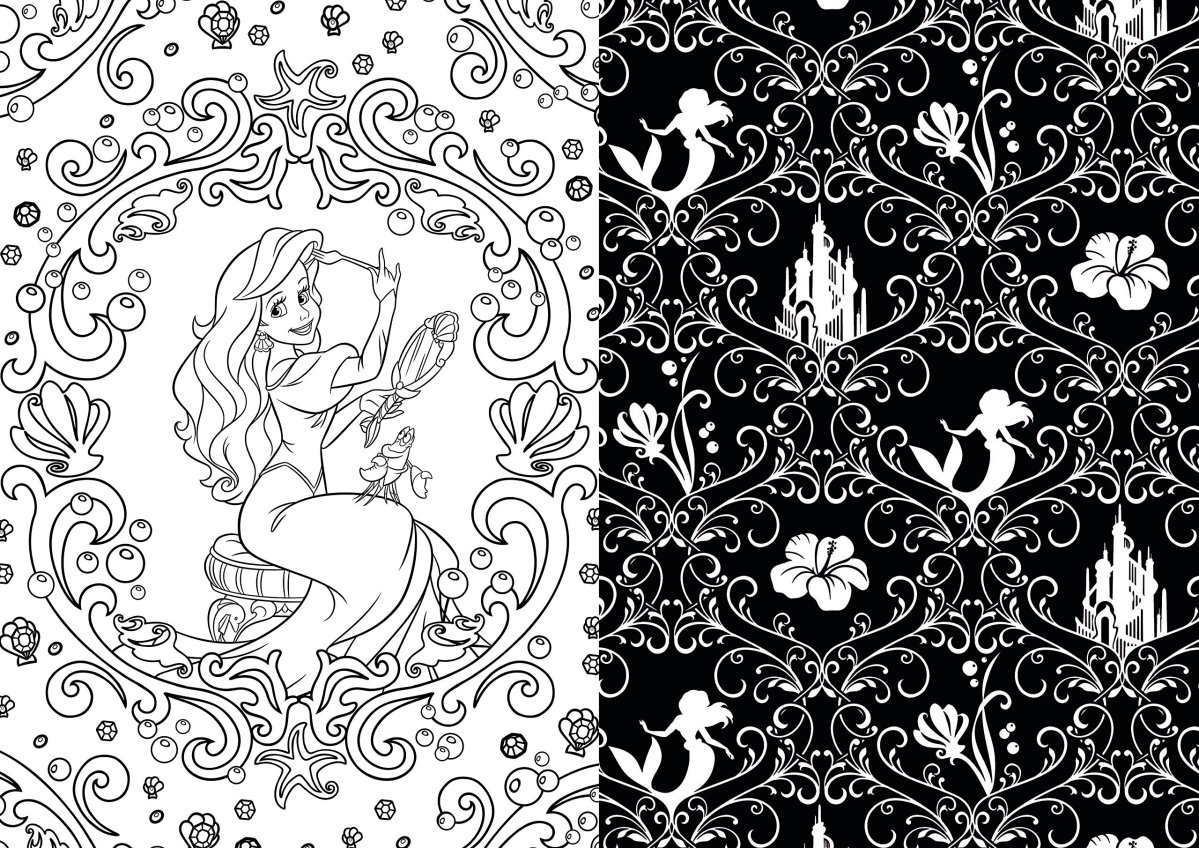 Coloring book disney princess - These Disney Coloring Books Can Be Good For Your Health Disneyexaminer