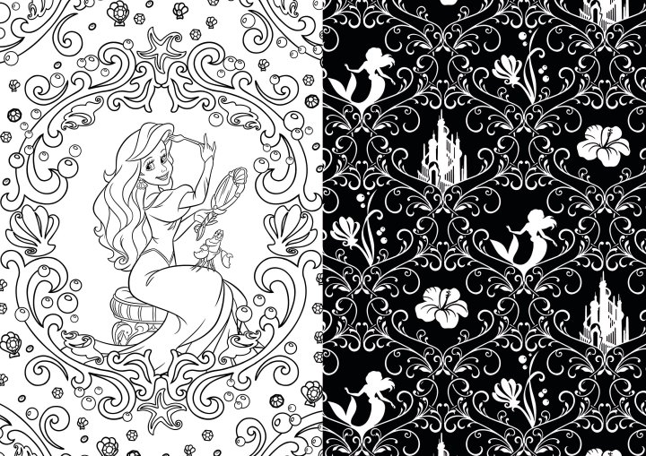 These disney coloring books can be good for your health for Garden 50 designs to help you de stress colouring for mindfulness