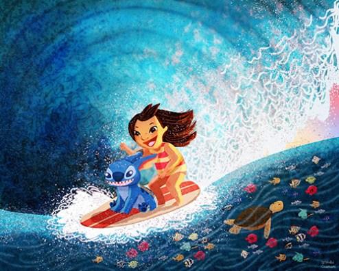 Disneyland Nidhi Chanani Hawaiian Roller Coaster Ride Art Signing Event