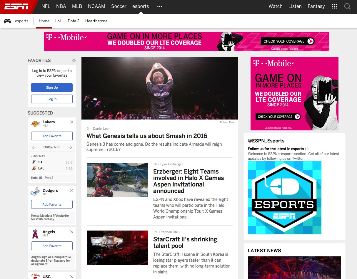 ESPN is now covering competitive video gaming  | DisneyExaminer