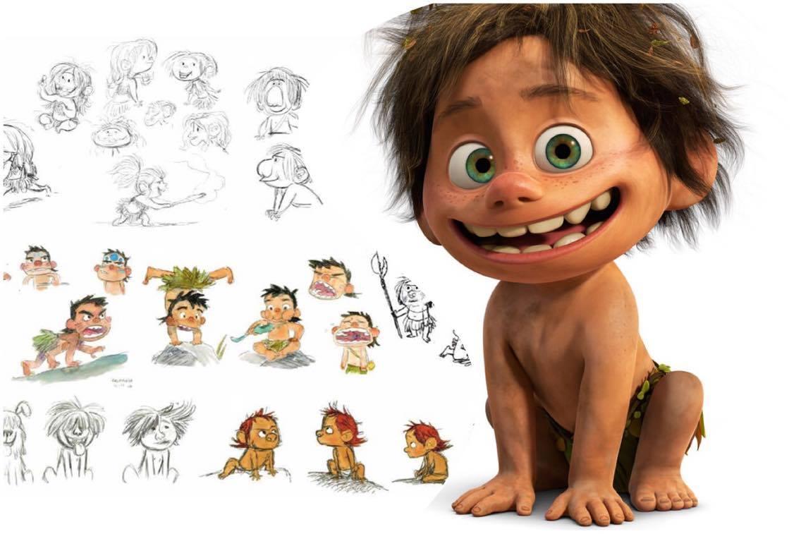 dinosaur disney pixar character characters sheets process spot animation sheet walt studios modeling dinosaurs concept alonso says drawing designing martinez