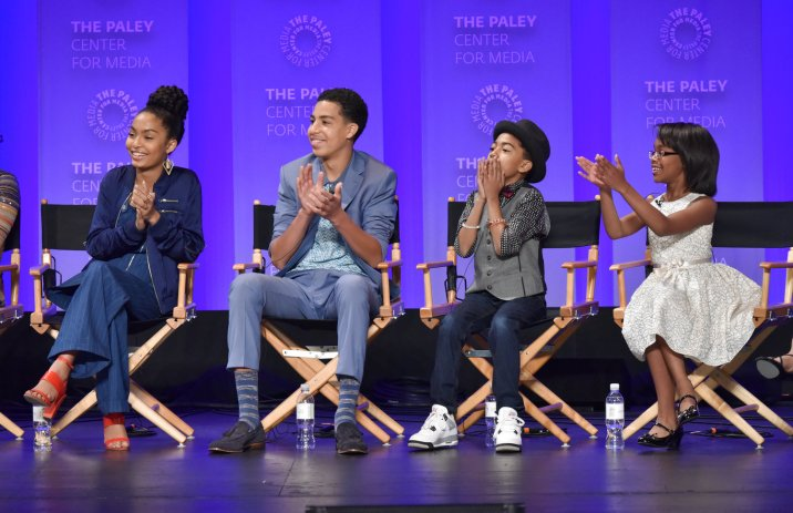 HOLLYWOOD, CA - MARCH 13: Yara Shahidi, Marcus Scribner, Miles Brown and Marsai Martin at PaleyFest LA 2016 honoring black-ish, presented by The Paley Center for Media, at the Dolby Theatre on March 13, 2016 in Hollywood, California. © Rob Latour for the Paley Center