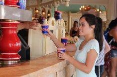 Disneyland Coke Corner Water Cup