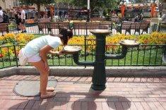 Drinking fountain on Main Street, U.S.A.