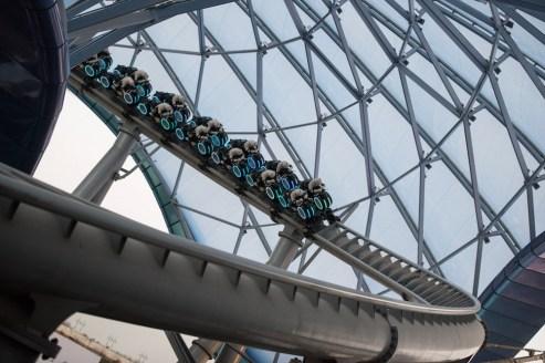 TRON Lightcycle Power Run Testing Shanghai Disney Epicenter Disneyexaminer