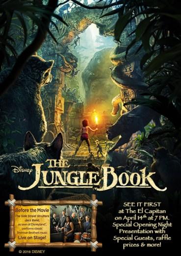 Disney Jungle Book Live Action Poster El Capitan Theatre