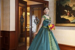 Disney Themed Foezen Wedding Anna Dress