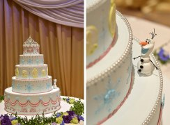 Disney Themed Foezen Wedding Cake